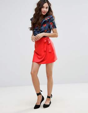 Fashion Union Wrap Front Skirt