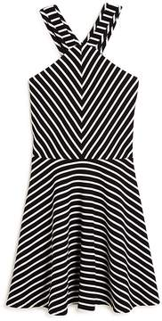 Aqua Girls' Striped Skater Dress, Big Kid - 100% Exclusive
