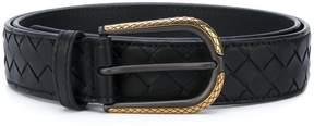Bottega Veneta woven buckle belt