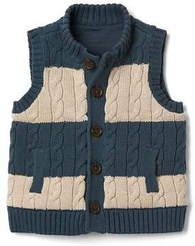 Gap Stripe cable-knit sweater vest