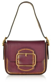 Tory Burch Women's Burgundy Leather Shoulder Bag. - RED - STYLE