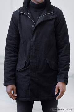 21men 21 MEN Faux Shearling Parka Jacket