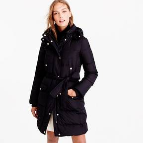 J.Crew Wintress belted puffer coat