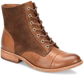 Kork-Ease Ramin Leather and Suede Combat Booties