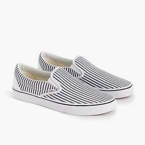 J.Crew Vans® for slip-on sneakers in seersucker stripe