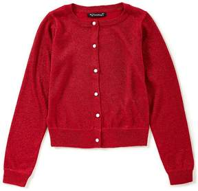 Xtraordinary Little Girls 4-6X Lurex Button-Front Cardigan Sweater