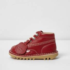 River Island Kids red Kickers lace-up boots
