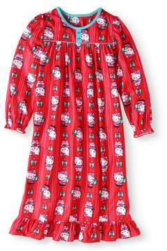 Hello Kitty Girls' Holiday Granny Nightgown