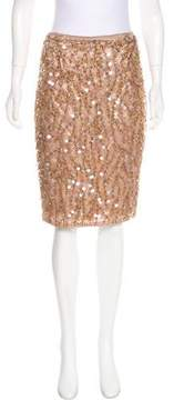 Tracy Reese Embellished Knee-Length Skirt w/ Tags