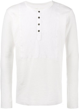 Greg Lauren Tux Henley Square Long Sleeve T-Shirt