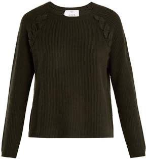 Allude Plaited-detail wool and cashmere-blend sweater