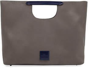Neiman Marcus Faux-Suede Hand Tote Bag