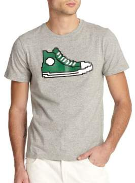 Mostly Heard Rarely Seen Pixellated Sneaker-Print Cotton Tee