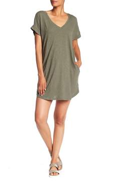 Allen Allen V-Neck Pocket Dress