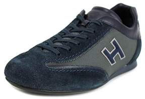 Hogan Olympia Uomo Slash H Flock Suede Fashion Sneakers.