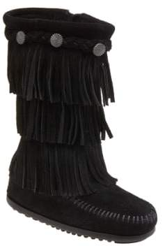 Minnetonka Toddler Girl's Three-Layer Fringe Boot