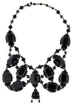 Erickson Beamon Crystal Embellished Bib Necklace