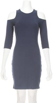 Eight Sixty Cold Shoulder Rib Dress