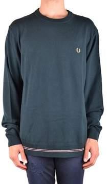 Fred Perry Men's Mcbi128289o Green Wool Sweater.