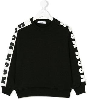 MSGM sleeve logo print sweatshirt