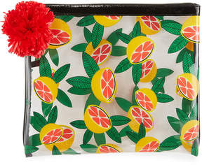 Neiman Marcus Travel Fruit Pattern Bikini Bag