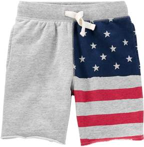 Osh Kosh Oshkosh Bgosh Boys 4-12 American Flag Patriotic Knit Shorts