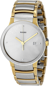 Rado Centrix Jubile Silver Dial Two-tone Men's Watch