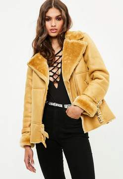 Missguided Yellow Ultimate Aviator Jacket
