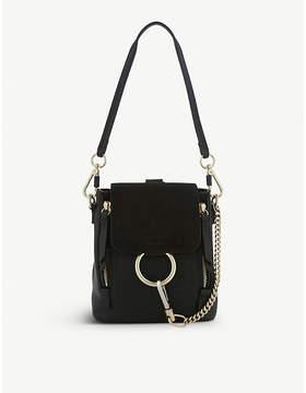 Chloe Faye mini leather & suede backpack