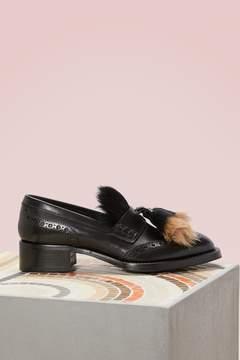 Prada Pony fur loafers