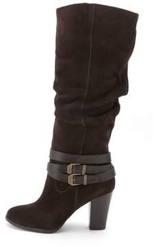 INC International Concepts Womens Jordana Wide Calf Leather Closed Toe Mid-ca....