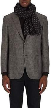 Barneys New York Men's Medallion-Print Wool Scarf