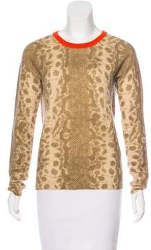 Equipment Patterned Cashmere Sweater