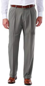Haggar Big & Tall eCLo Glen Plaid Classic-Fit Pleated Dress Pants