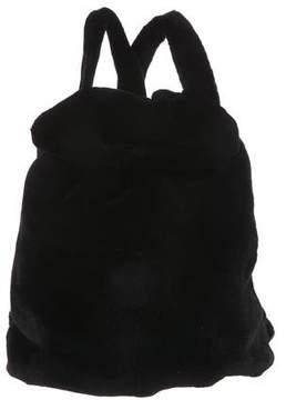 The Row Mink Fur Knapsack Backpack