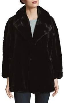Isaac Mizrahi IMNYC Oversized-Lapel Faux Fur Coat