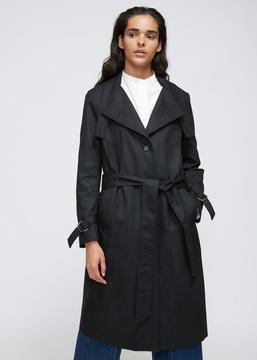 Aalto Black Trench Coat
