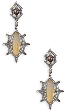 Artisan Women's Designer Citrine & Diamond Earring