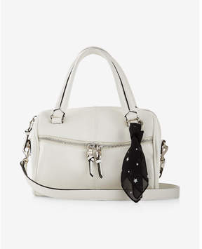 Express Scarf Embellished Barrel Satchel