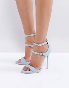 Public Desire Blue Strappy Heeled Sandals
