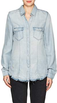 Blank NYC Blanknyc Women's Distressed Chambray Shirt