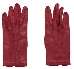 Neiman Marcus Leather Wrist Gloves