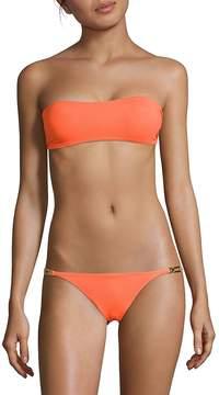 Melissa Odabash Women's Two-Piece Tie Bandeau Bikini