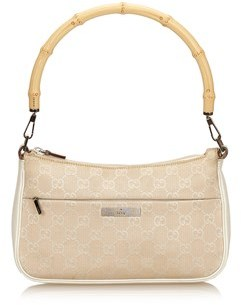 Gucci Pre-owned: Bamboo Jacquard Handbag. - BROWN X BEIGE X WHITE - STYLE