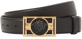 Versace Men's Medusa Leather Belt