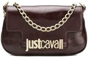 Just Cavalli logo clutch bag