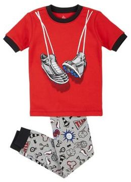 Petit Lem Boy's Two-Piece Sneakers Pajama Set