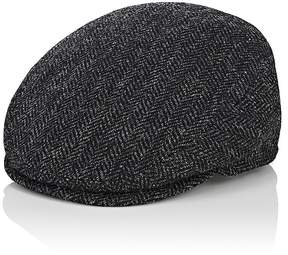 Barneys New York MEN'S GENOVA IVY HERRINGBONE VIRGIN WOOL CAP