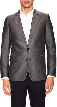 Christian Dior Men's Solid Notch Lapel Sportcoat