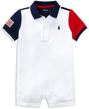 Ralph Lauren Boys' Color-Block Polo Shortall - Baby